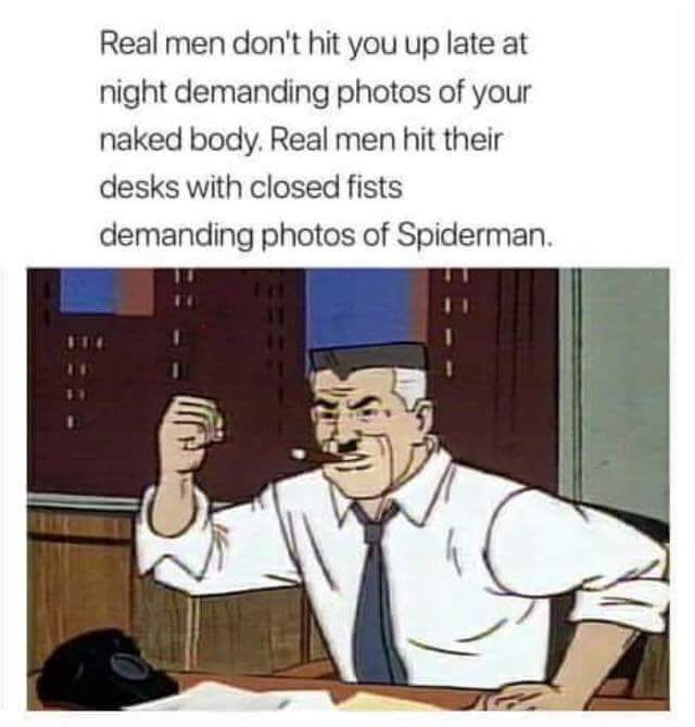 Get me pictures of spiderman - meme