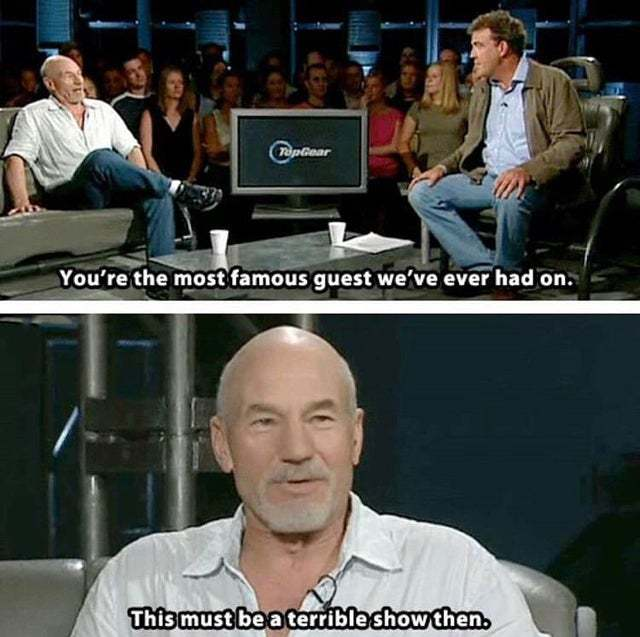 The most famous guest Top Gear ever had - meme