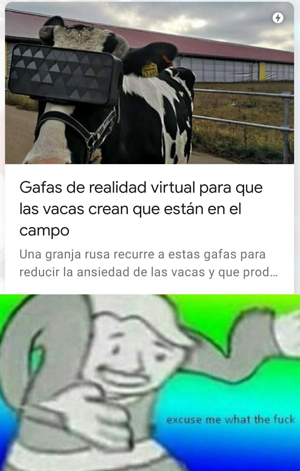 Ya hasta las vacas - meme