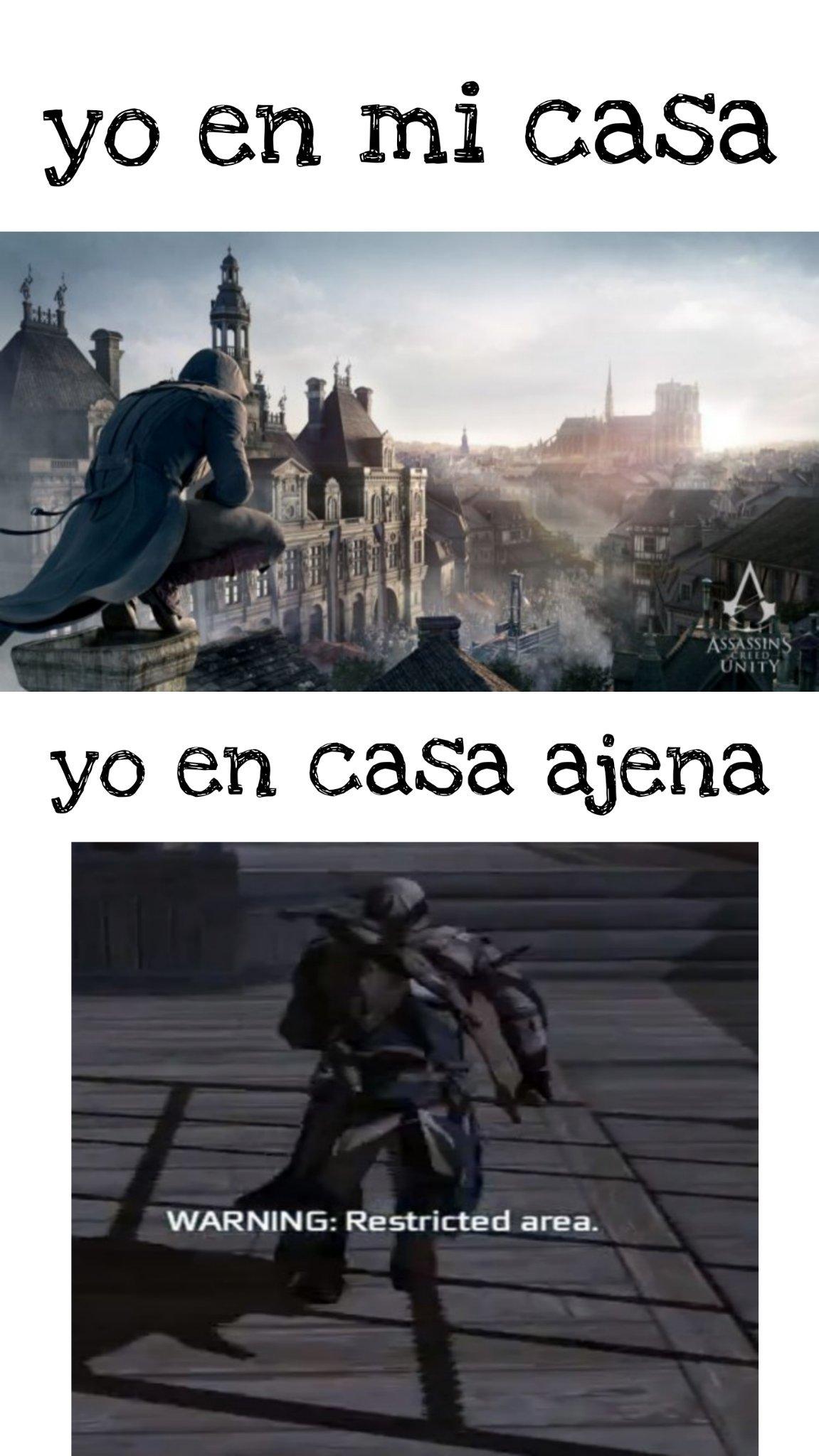 Probablemente solo lo entenderán los jugadores de Assassin's creed - meme