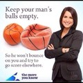 Squeeze his balls, Empty his Sac