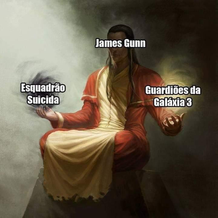 Com a volta de James Gunn para o comando de Guardiões da Galáxia vol.3, vem a dúvida: - meme