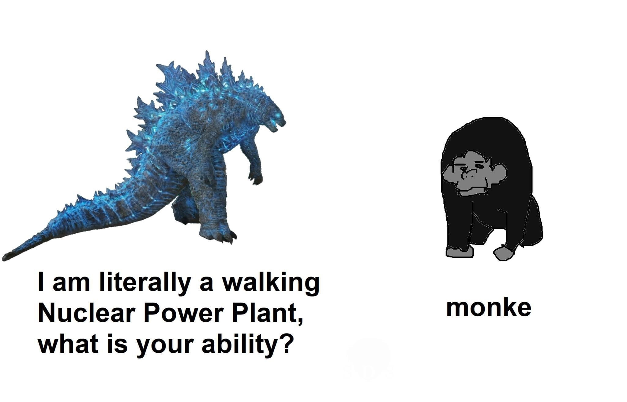 title is excited for Godzilla vs. King Kong - meme