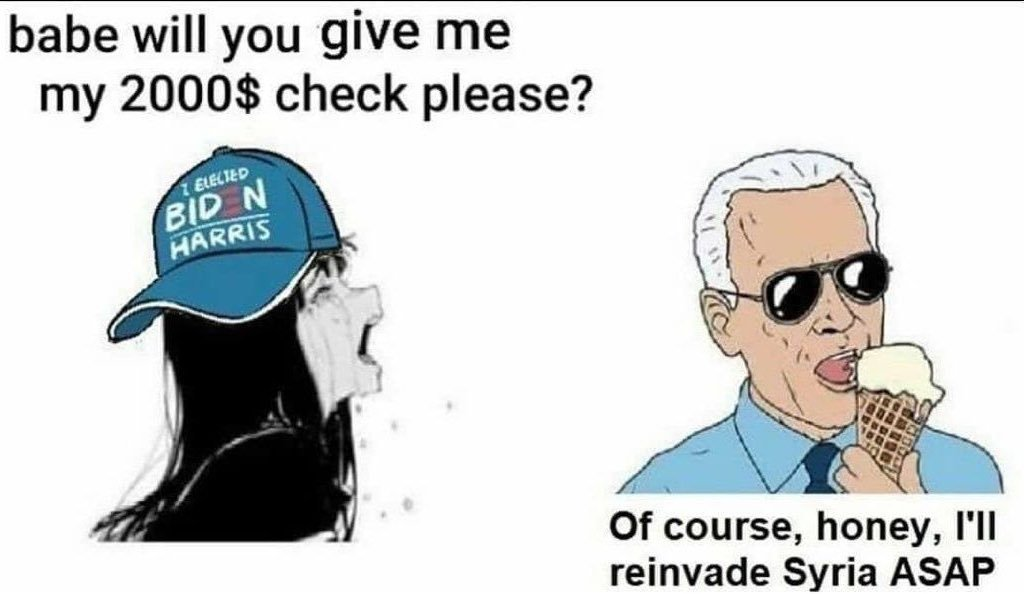 where's my stimulus check biden? - meme