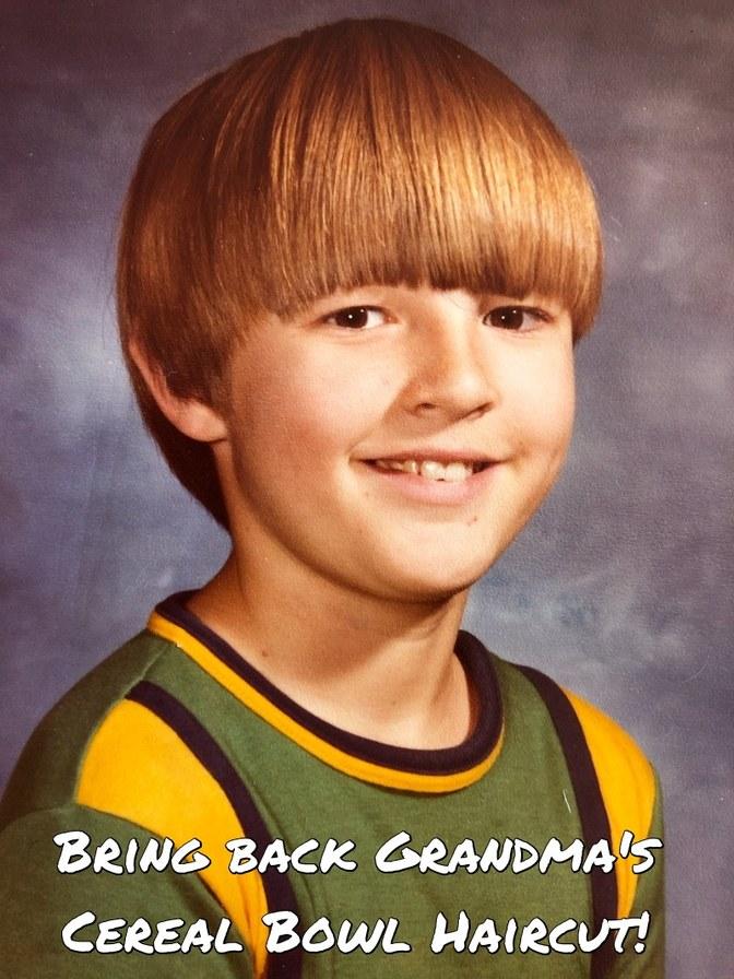 Better than a Mullet, Grandma's Cereal Bowl Haircut! - meme