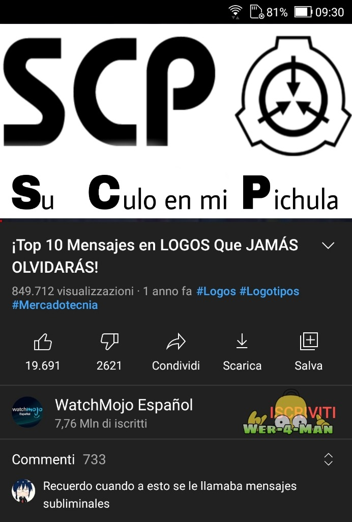 Odio tener el youtube en italiano - meme