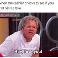 Fuck the cashier