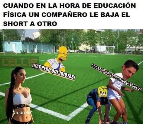 En educación física - meme
