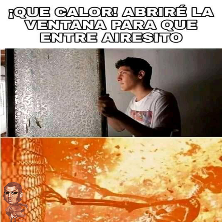 La calor - meme