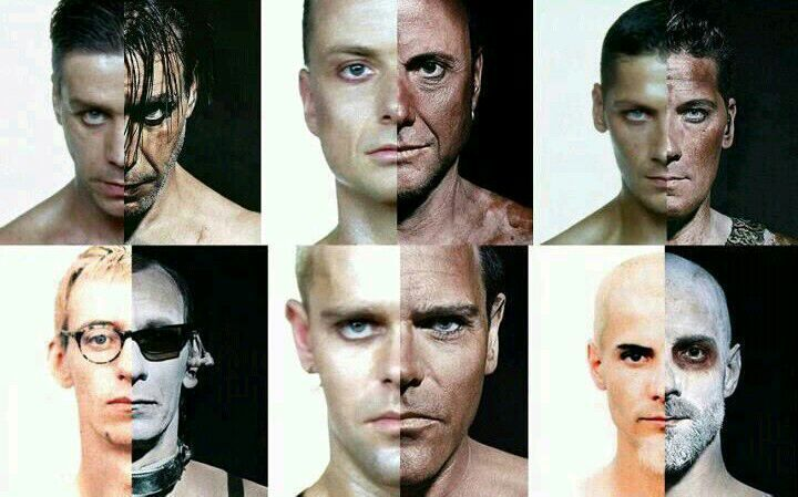 Rammstein then and now - meme