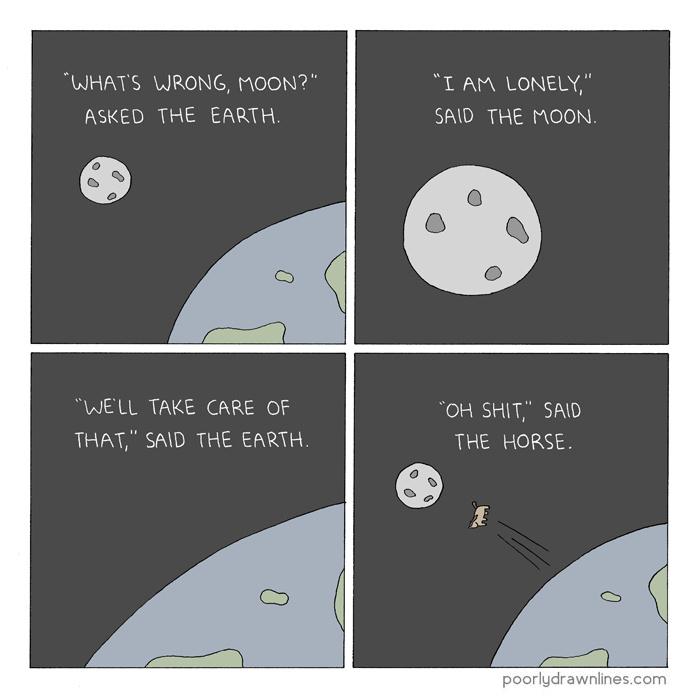 earth and moon - meme