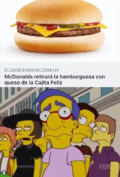 Milhouse está bien triste - meme