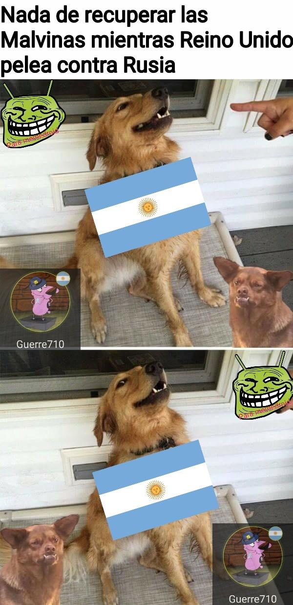 No se enojen, yo soy argentino también - meme