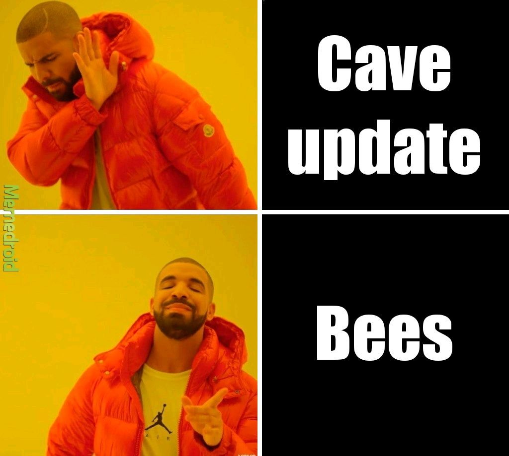 The update drake wants in Minecraft - meme