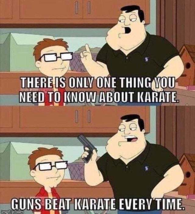 There is only one thing you need to know about Karate - meme
