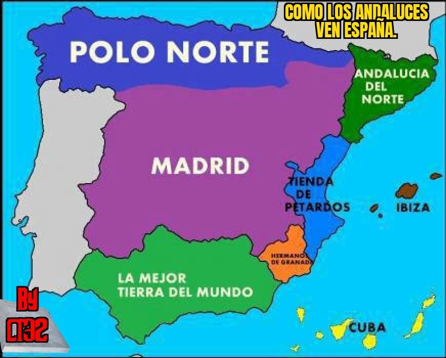 España según los andaluces. - meme