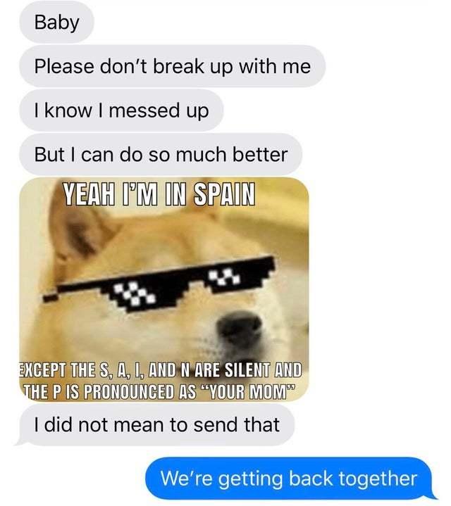 Task failed correctly - meme