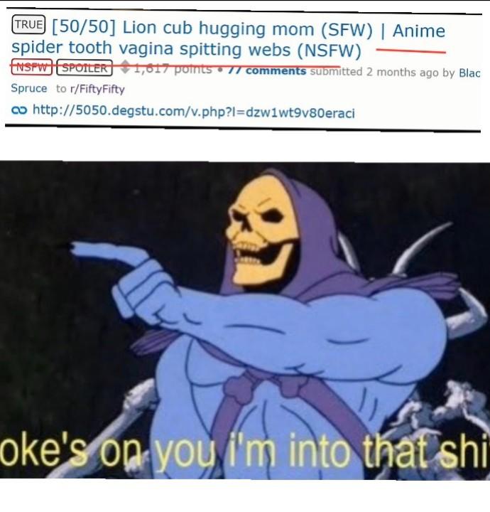 Reddit 50/50 - meme