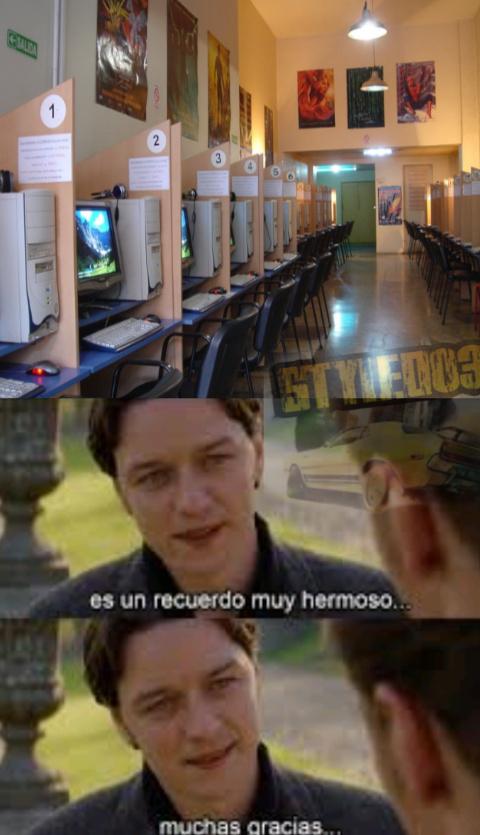 Cybers con muchos juegos y con Windows XP - meme