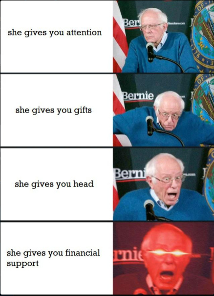I once again ask for your financial support - meme