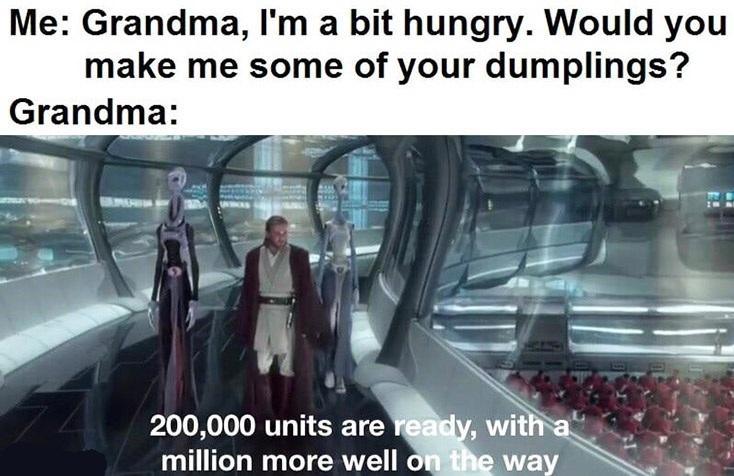 Chinese grandma, any grandma. Yay grandma! - meme