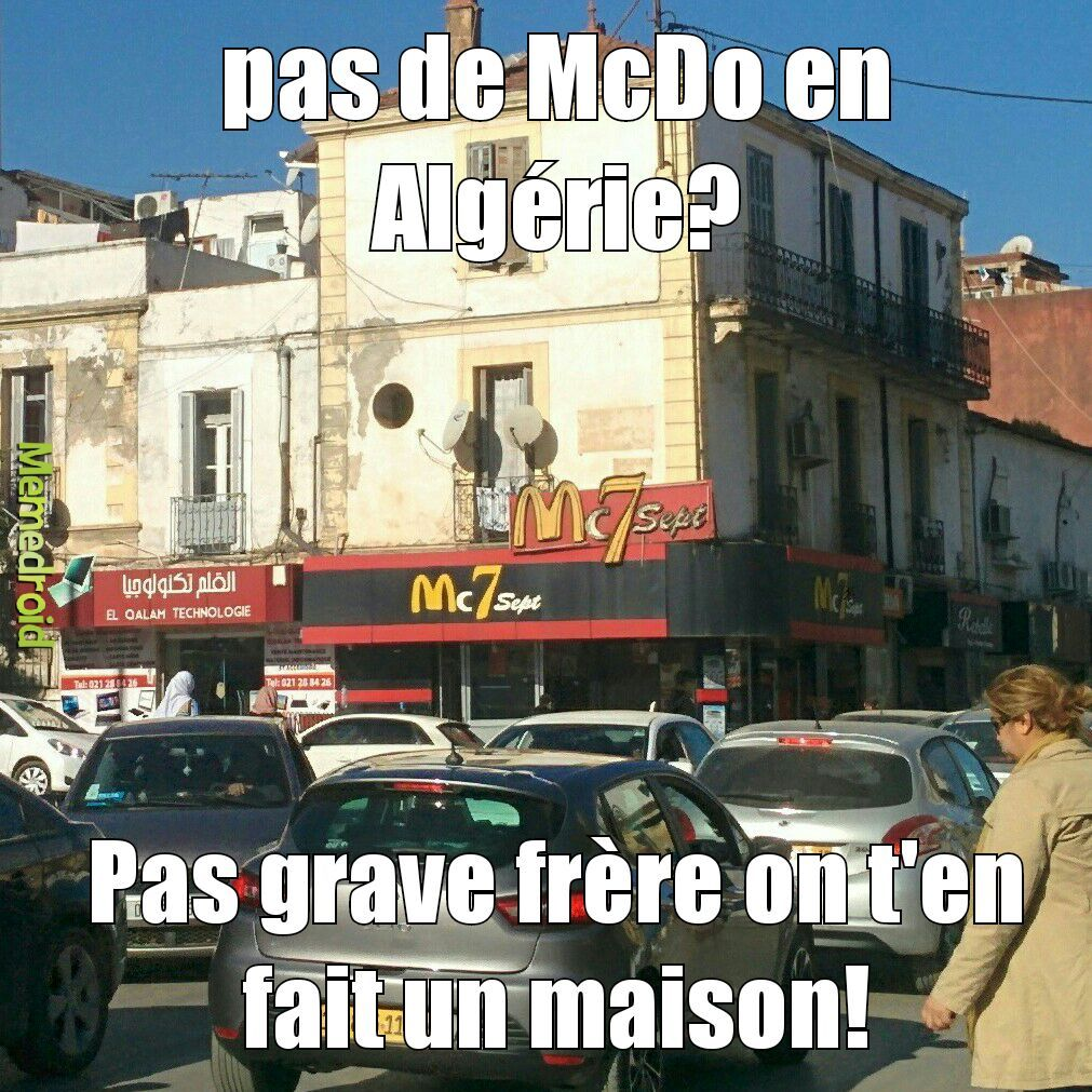 les pseudo McDo a Alger! - meme