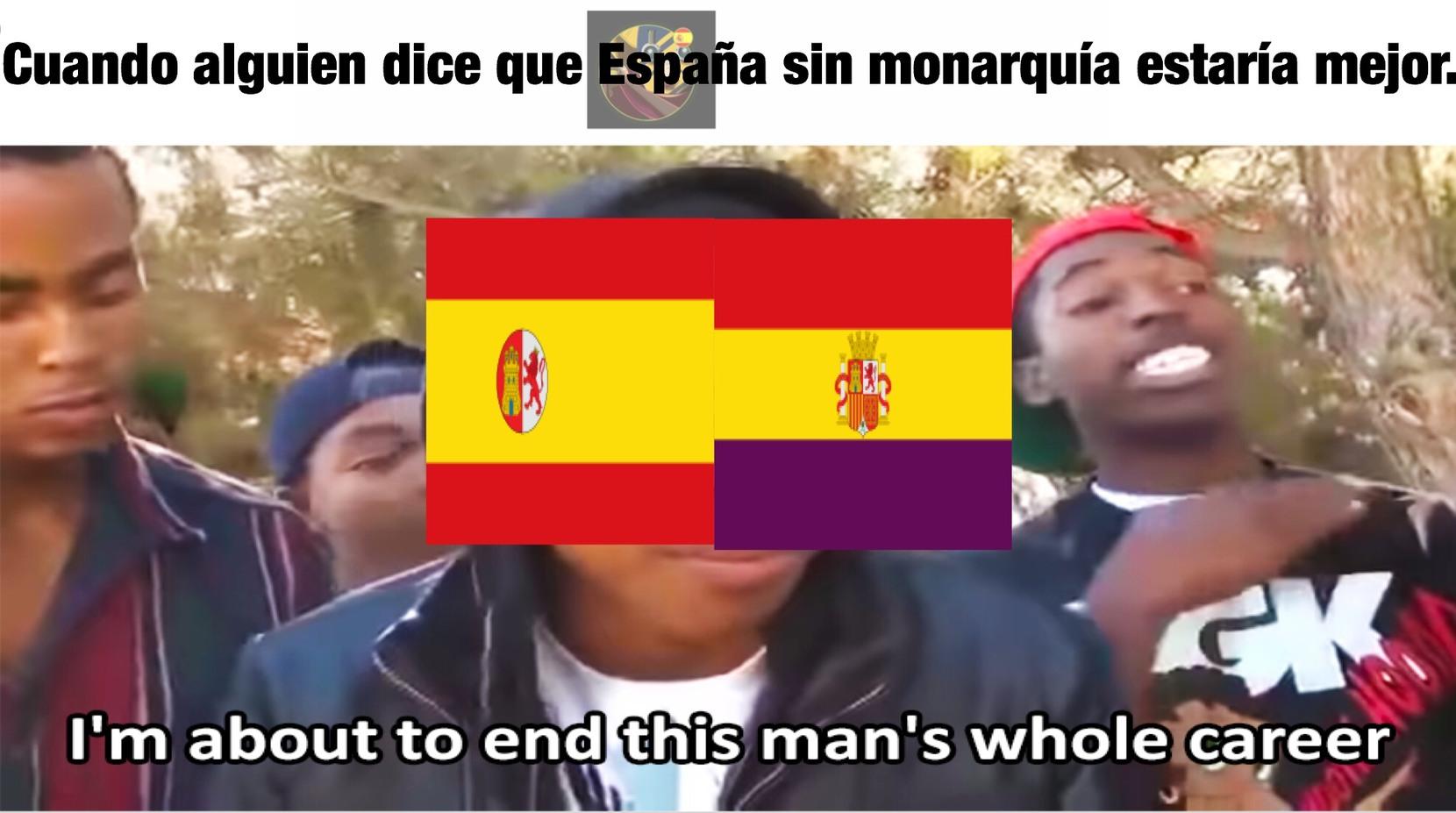 Sogeking PD: Las 2 repúblicas españolas fueron cortas, inestables y jodierón España. - meme