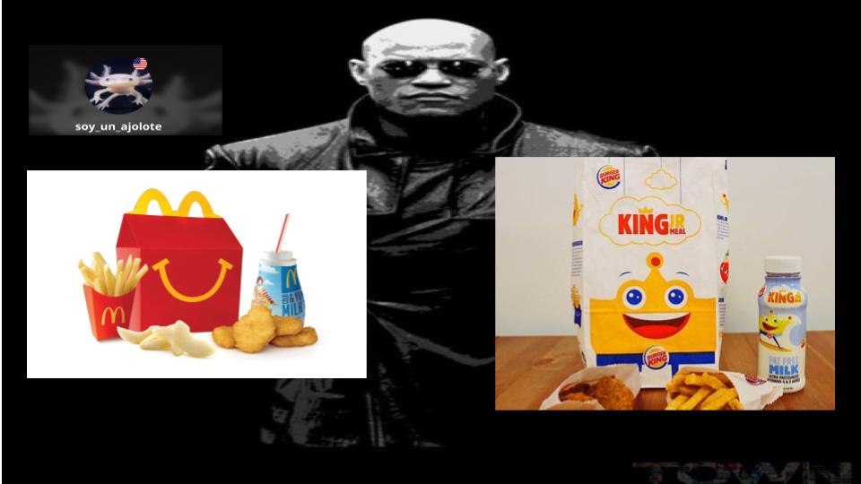 cajita feliz o menu infantil de burger king? - meme
