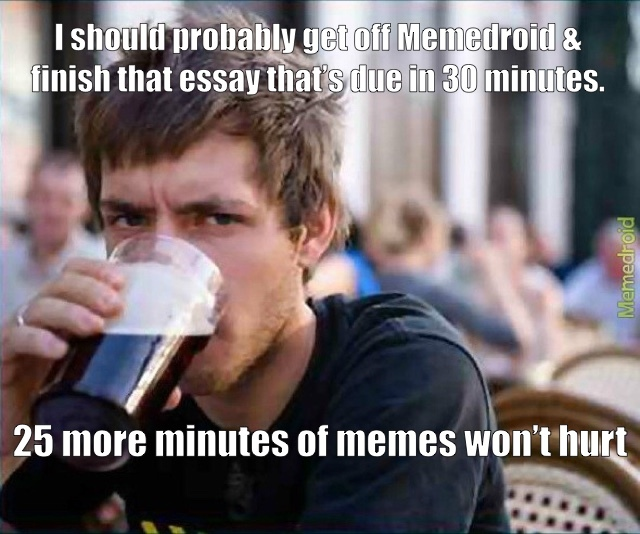 Lazy College Senior is a reposter - meme