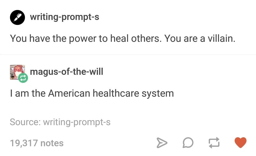 American healthcare system - meme