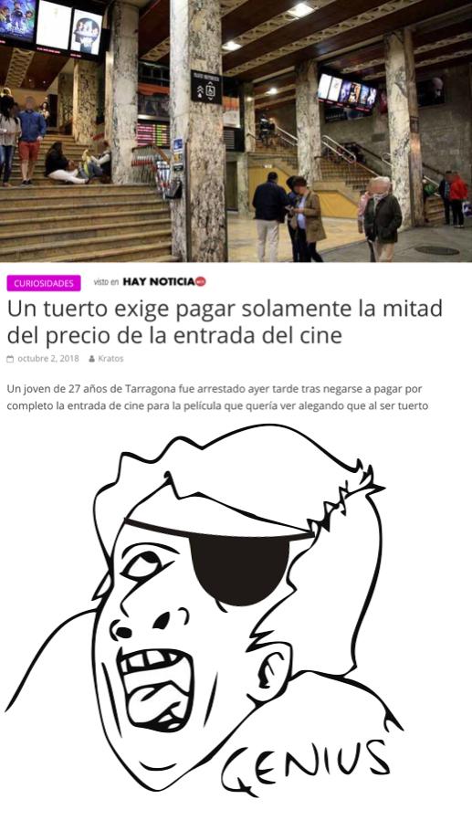 Genius Tuerto - meme
