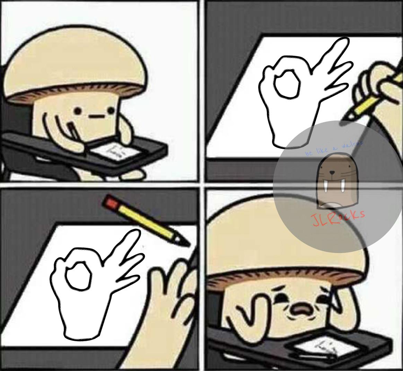 El champiñón - meme