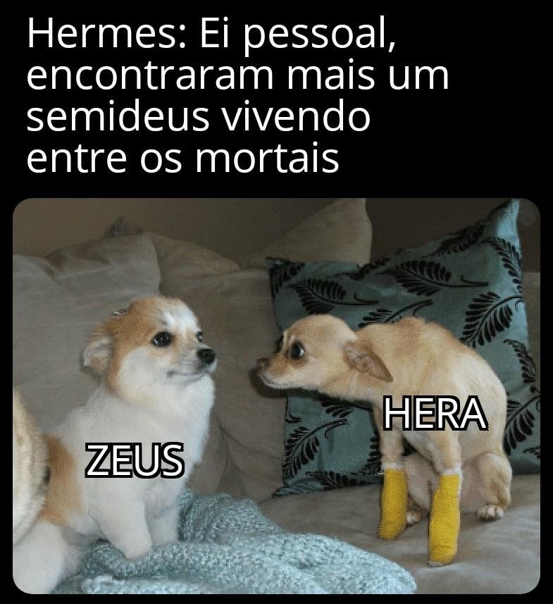 Pra Zeus basta ter buraco, ou as vezes nem isso - meme