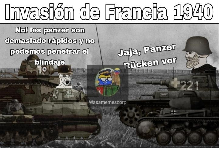 Panzer Rücken Vor significa: Tanques avancen! - meme