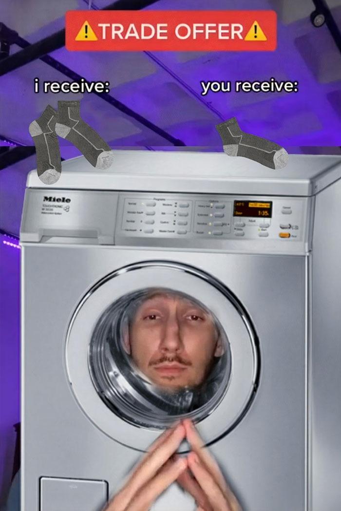 washing machine - meme