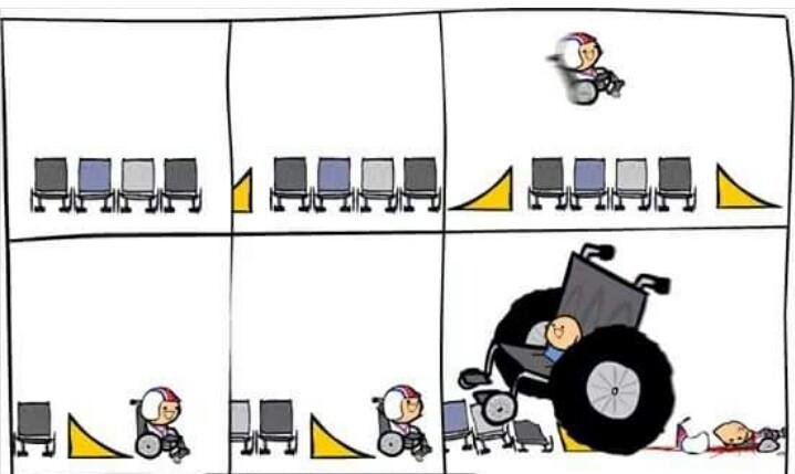 Ne sous-estimez jamais les fauteuils roulants - meme