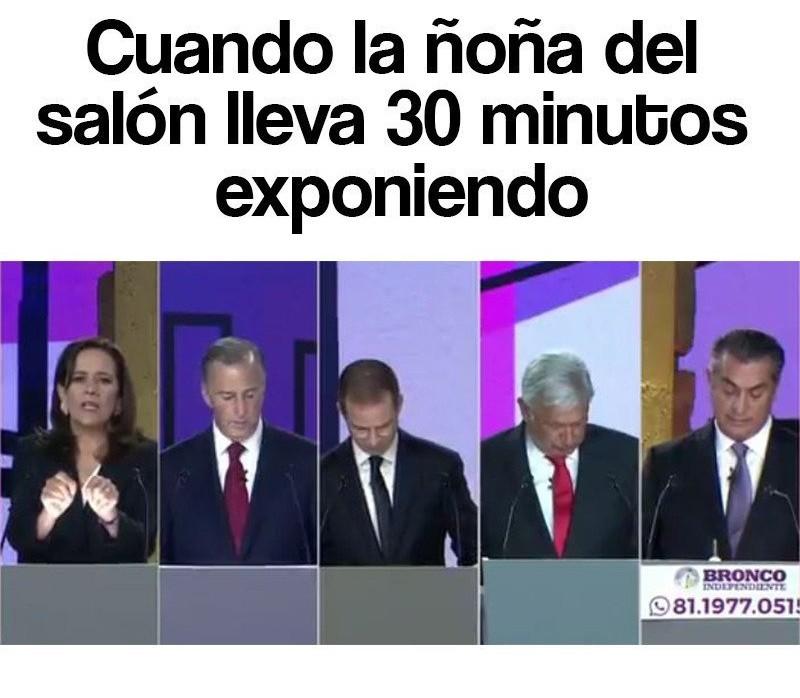 Debate presidencial - meme