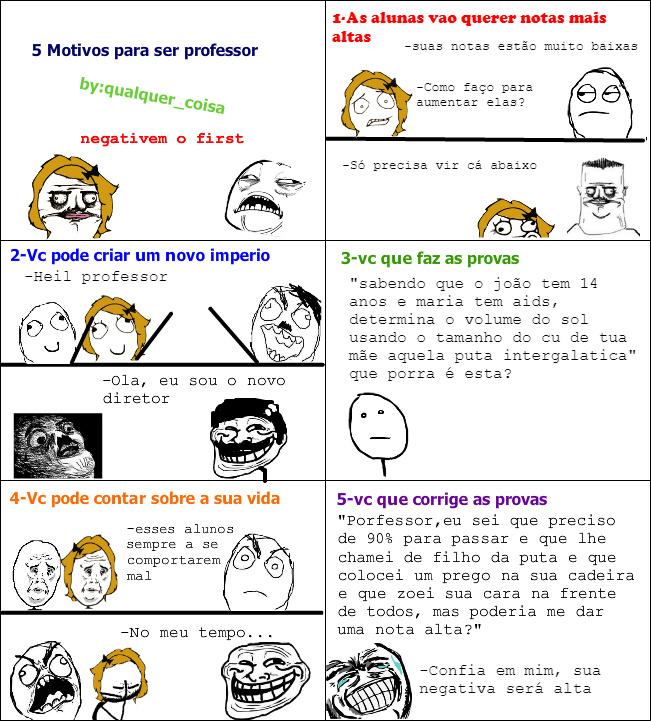 5 motivos para ser professor - meme