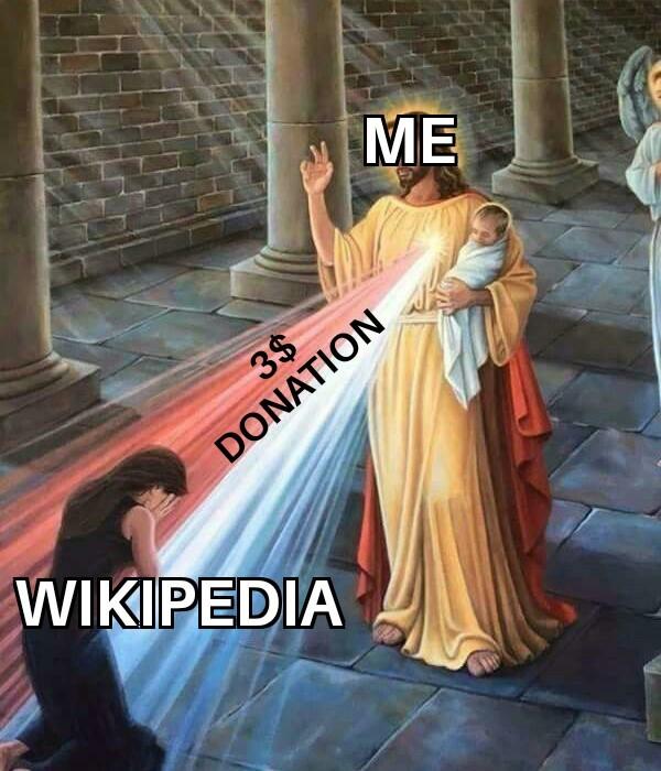 Donate to wikipedia - meme