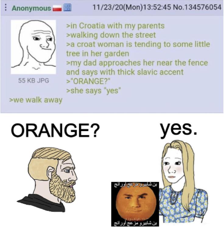 Croatian Oranges - meme