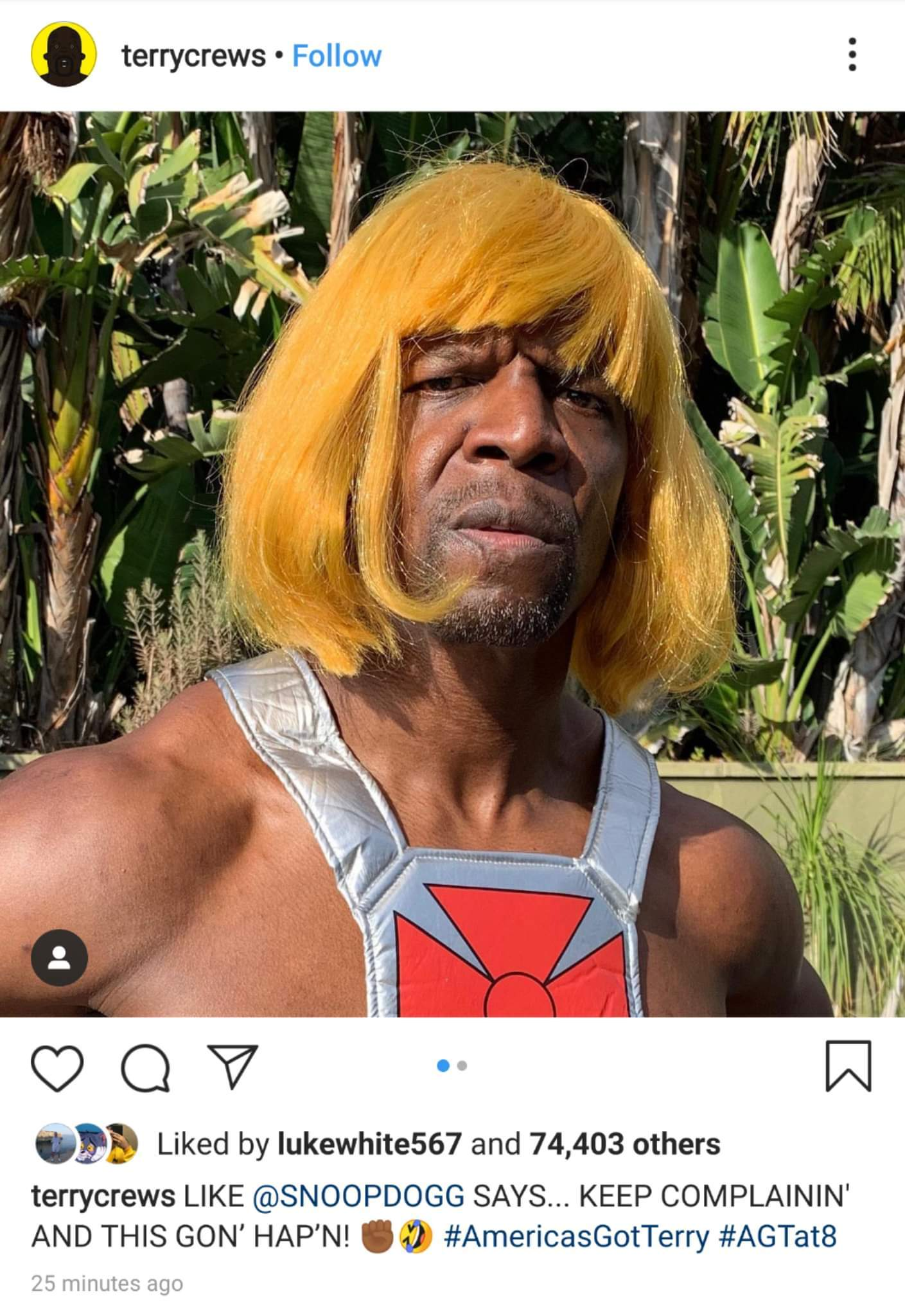I'd watch it just cuz its terry crews and that man is what i stride tonbe - meme