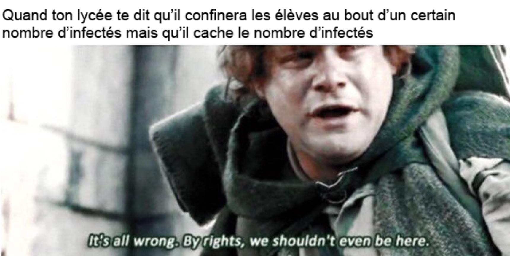 Team confinement - meme