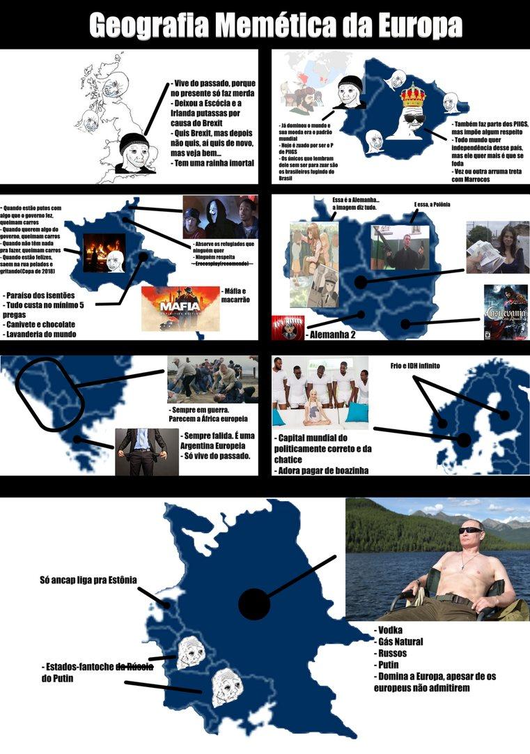 Tentando um formato diferente pq a Europa é menor q moral de otaku (qualquer coisa abre a imagem em uma nova guia) - meme