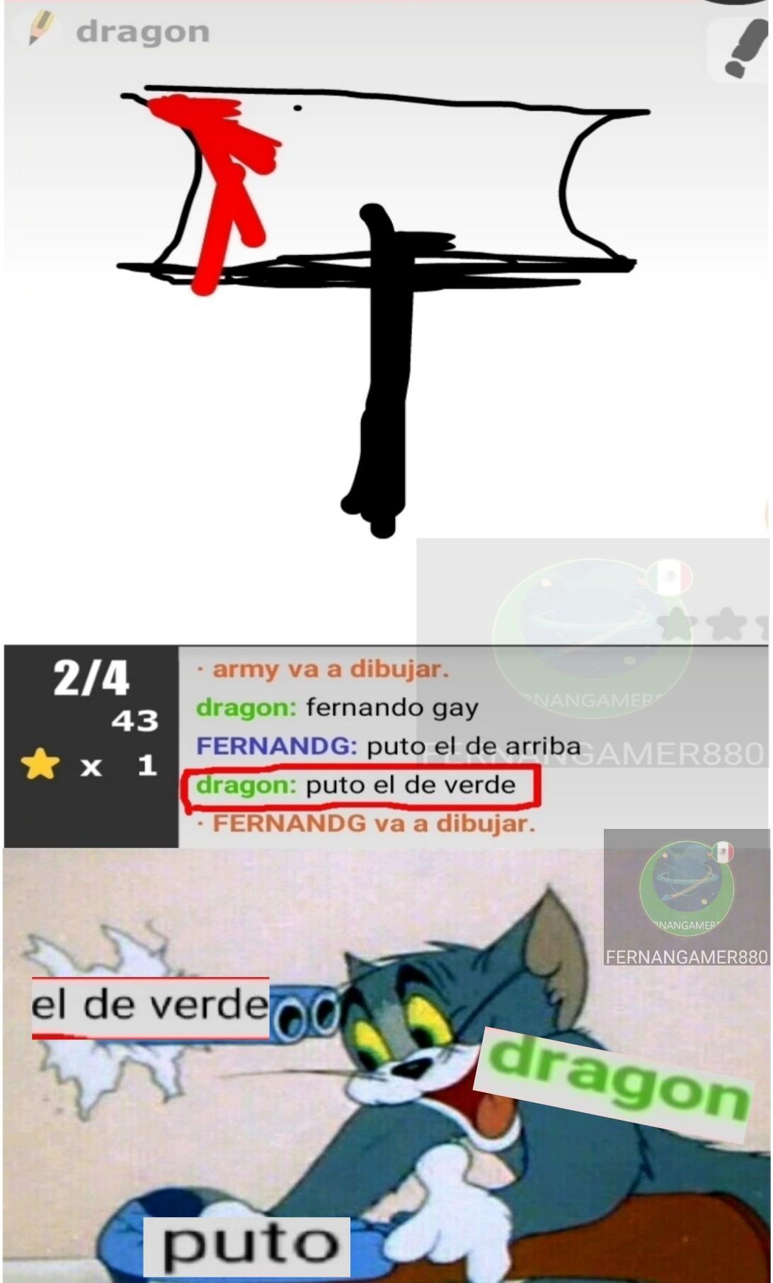 Señor Genius: dragon - meme
