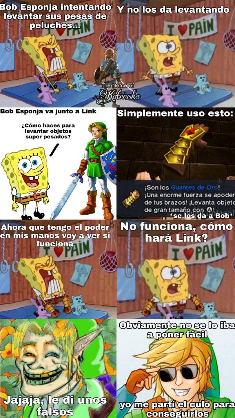 Link, Link, Link... - meme