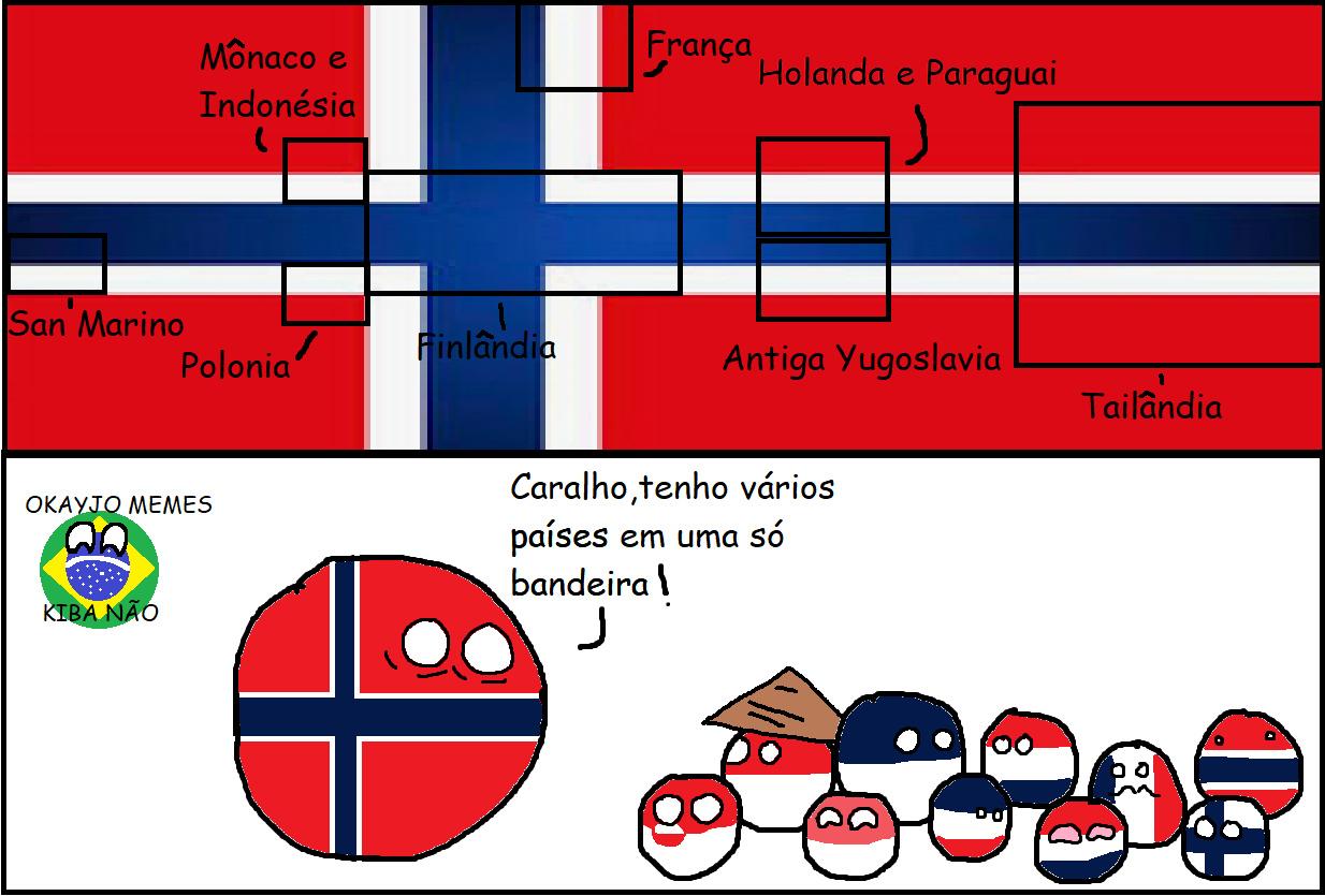 Bandeira da Noruega - meme