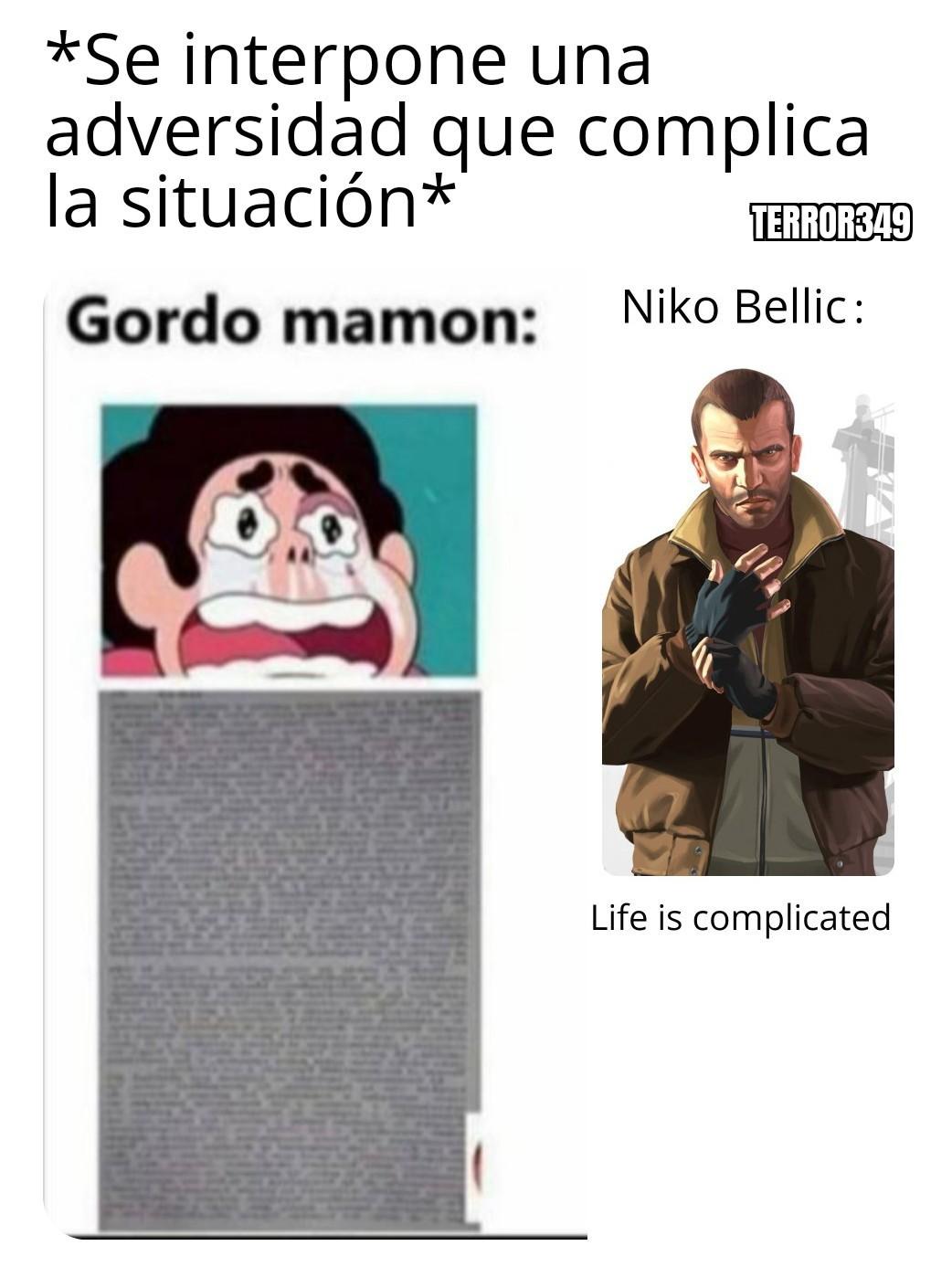 Life is complicated, i've kill peapole... - meme