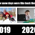 Snowdays before the virus