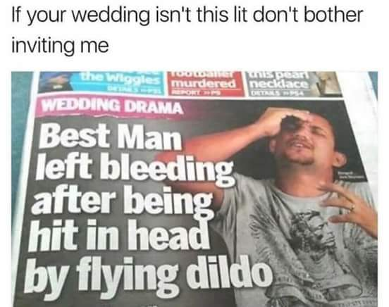 That's some wedding