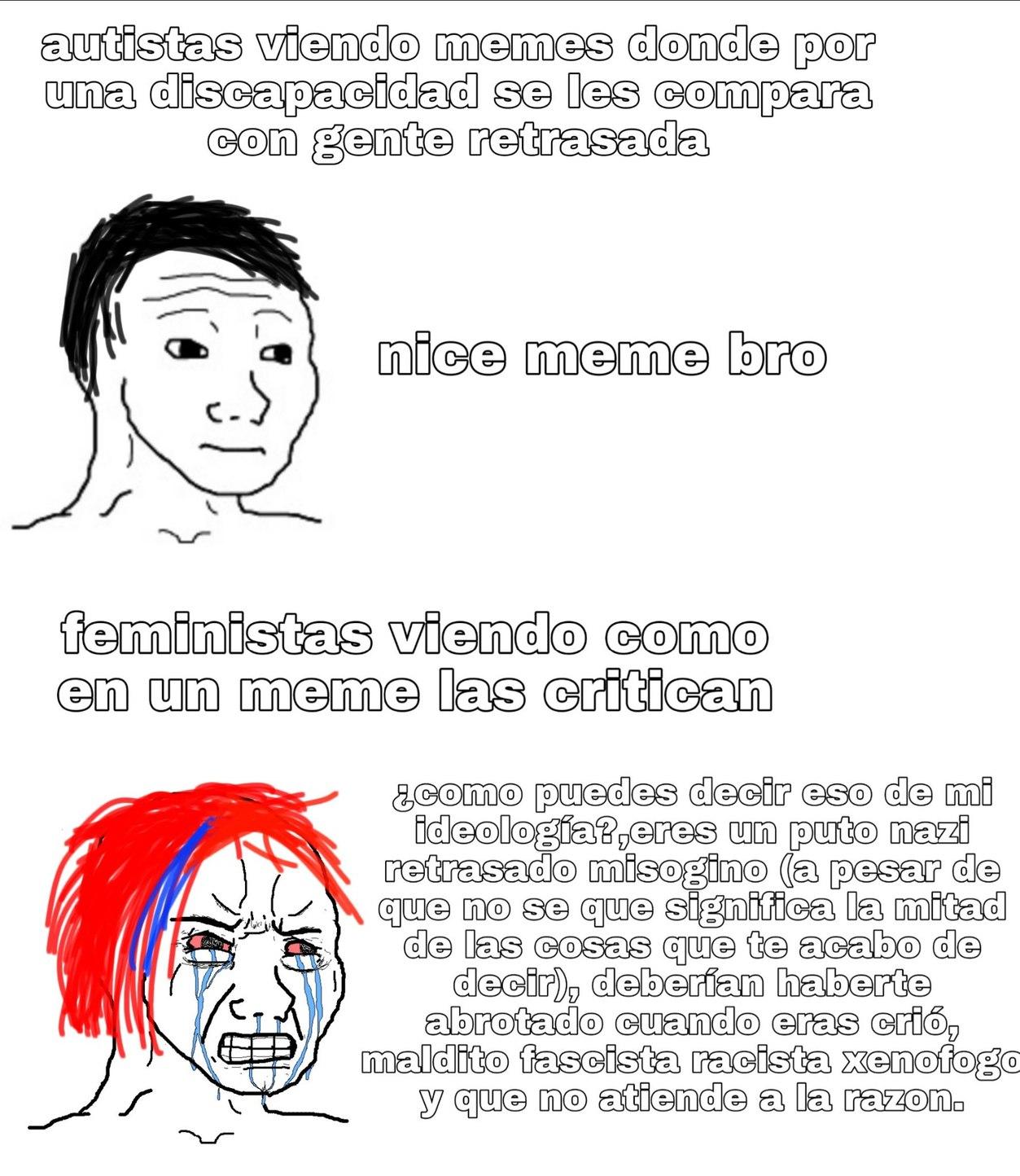 Feminazis de mierda XD - meme